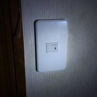 トイレ用照明スイッチを取り替え