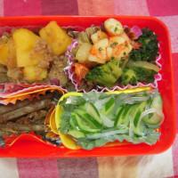 海老とブロッコリーの中華炒め弁当