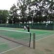 20170717記録(kata54)、今朝も朝テニス(北見東陵公園)