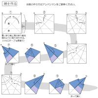 折り紙のバイキンマン(改良版)