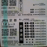 ジャパンカップ&京阪杯の払戻金