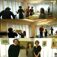 田中恵子絵画展「グリーントルマリン森 変奏曲」展示風景