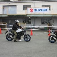 スズキSV650の試乗会でした。