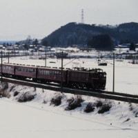 雪景色に映える国鉄型 50系普通客車列車 1995-02-05