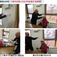 2016.11.26(土)自主巡回/山内 [晩秋を見つけよう!「三角巾で応急手当の実習」]