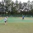 20170715記録(kata54)、今朝も朝テニス(北見東陵公園)