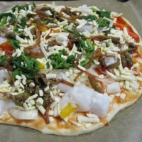 春のパスタとピザ