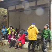 2017年1月8日(日) 「干支の山」鳥見山と、貝ヶ平山は氷雨の中