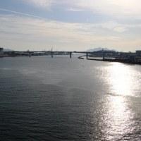 宇品橋上から河口を眺む~元安川散策