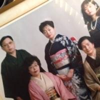 成人の日に撮った家族写真。