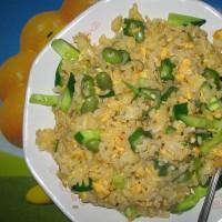 夏野菜のチャーハン・緑