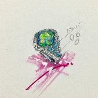 New Collection Opal & Paraiba   sapphire  Tourmaline