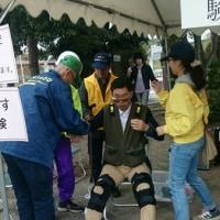 防災訓練で高齢者を体験
