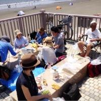 片瀬江ノ島の海岸で