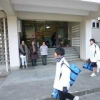 更生保護女性会のみなさんのあいさつ運動・始業式・表彰伝達式(1月10日)