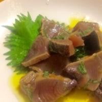鰹のたたき 紫蘇生姜和え