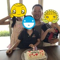 息子の誕生日ケーキ・・・1枚の写真
