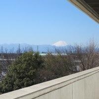 JR武蔵境駅付近から・・・富士山が見えました。