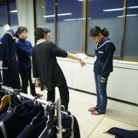 管内の小学校・中学校の学生服採寸会を開催しました。
