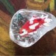 水晶に金魚