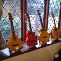うづらギャラリーの小坂ギター展示会
