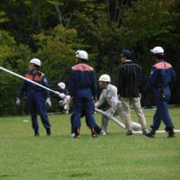 評価の高い上野区防災訓練、訪問活動