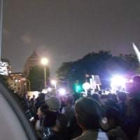 安倍政権に反対する金曜国会前抗議行動