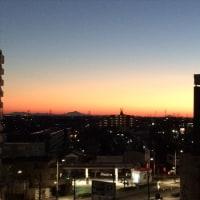 熊谷の朝焼け