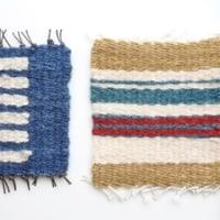 丸い手つきの小物入れ&キリム織り