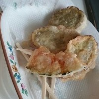 ●豚トロの、薩摩芋&韮ソース!?