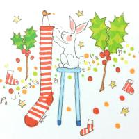 クリスマスの準備 うさぎ