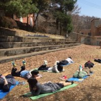 帝京学園短期大学の野外実習4月14日