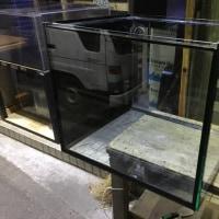 中古 700×600×600オールガラスサイドオーバーフロー水槽