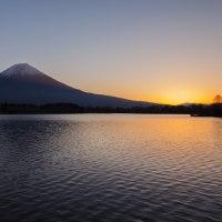 田貫湖畔の夜明け