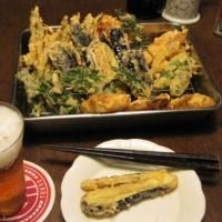 菜園の恵みを天ぷらで