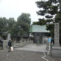 雪の石清尾八幡宮おみかん焼き