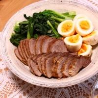 外食&煮豚