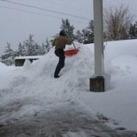 雪の山作り