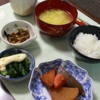 夕食 シュリンプカレー&朝食