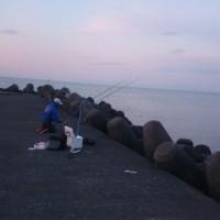 噴火湾での投げ釣り!