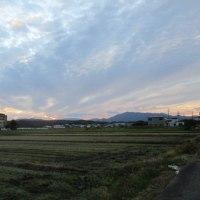 晩秋へのステップ;入日