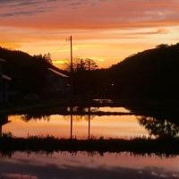 湯之谷の夕焼け