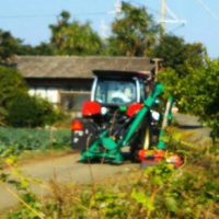 トラクタブーム式草刈機