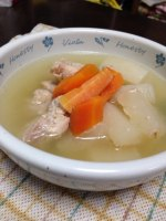 電気圧力鍋で簡単!『鶏と根菜のスープ』
