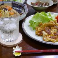 玉子かけご飯と秋の煮物
