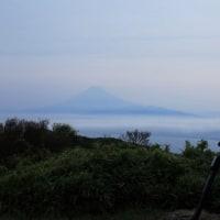 富士山 伊豆からの「初朝焼け撮りが...」 期待感より更なる大きなお土産を...(^_-)-☆