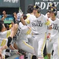 お得意様のロッテ戦で今季10勝目!柳田・内川・デスパイネのクリーンナップ揃い踏み!