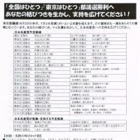 都議選 日本共産党の躍進で、東京から日本の政治を変えよう/全国は一つ 滋賀からも応援を!