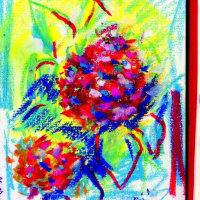 朝日記170622 音楽絵画No.372 紫陽花の季節 と今日の絵
