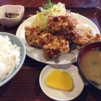 【食録】だるま食堂でから揚げ定食(^_^)